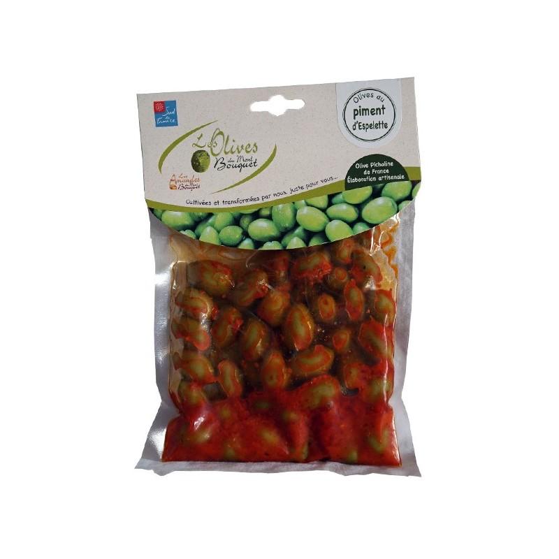 Olives au piment d'Espelette 200g