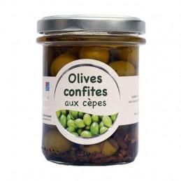 Olives confites aux cèpes
