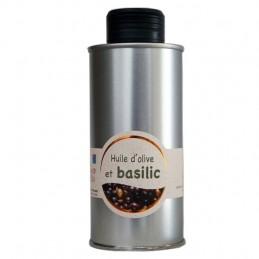 Huile d'olive au basilic (basilic frais) 20 cl