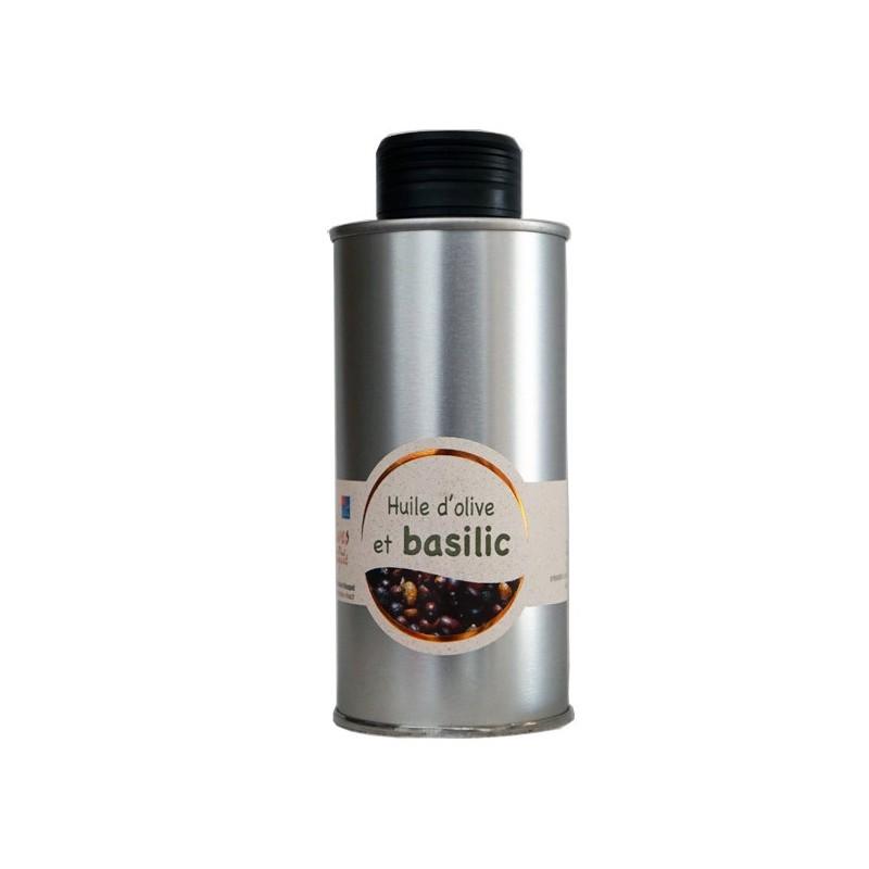 Huile d'olive au basilic (basilic frais) 20cl