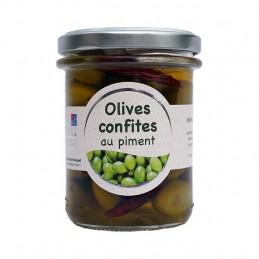 Olives confites aux piments 165g