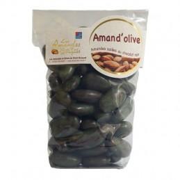 Amand'olives 150g - Amandes grillées salées enrobées de Chocolat noir à l'huile d'Olive