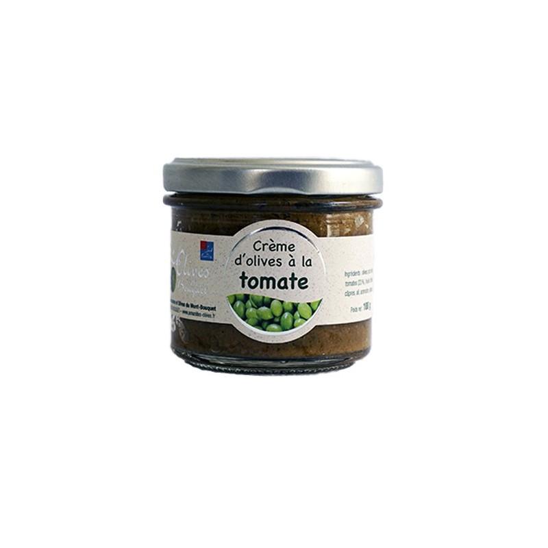 Pot de purée d'olives Picholine à la tomate 100g