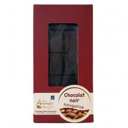 Tablette de chocolat noir et nougatine 100g