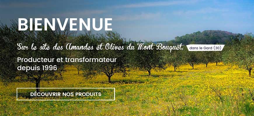 Bienvenue sur le site des Amandes et Olives du Mont Bouquet